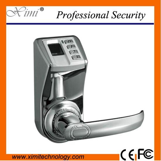 цена на Hot Sale Good Quality Adel3398 Silver Hotel Fingerprint Lock Door Access Control System