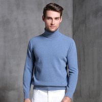 Men Sweater Winter Autumn Warm Pullover 100% Pure Cashmere Knitted Jumpers Hot Sale 8Colors High Quality Knitwear Man Thick Tops