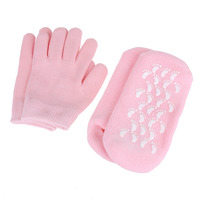 SPA Gel Socks Gloves Moisturizing Whitening Exfoliating Treatment Smooth Beauty Reusable Hand Mask Feet Care Silicone