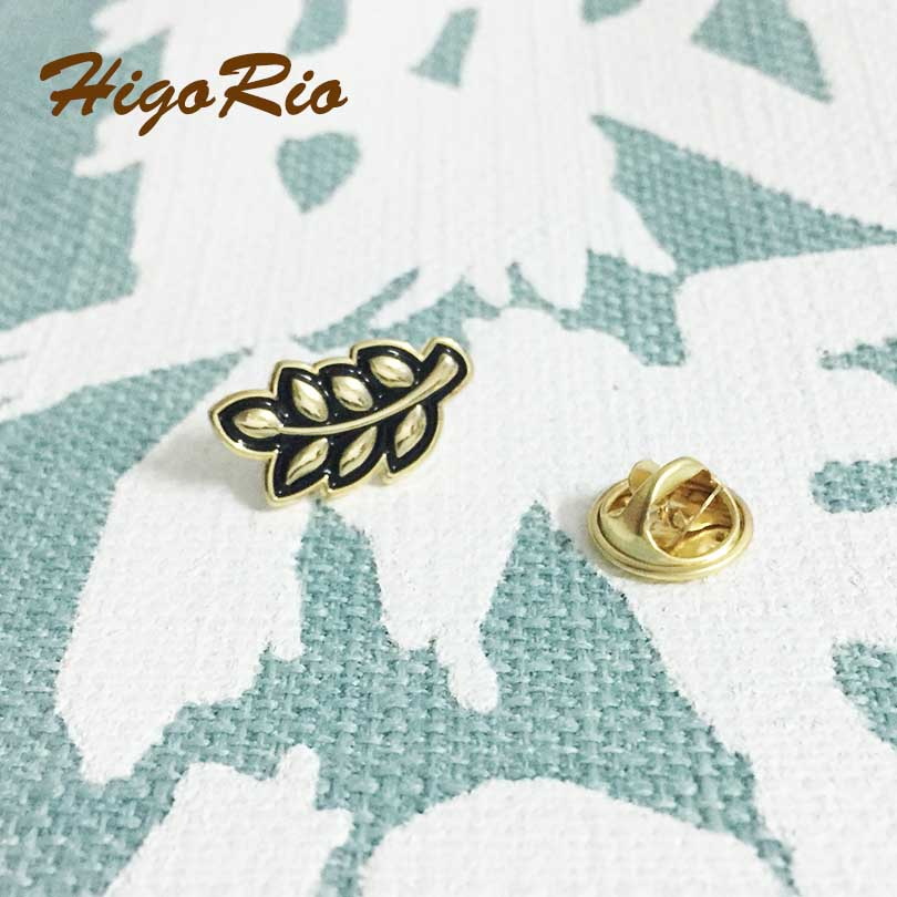 50pcs Customized Freemason Akasha Enamel Brooch and Pins Badge 19mm Sprig of Acacia Hiram Abiff Leaf Lapel Pin Masonic regalia-in Brooches from Jewelry & Accessories    2