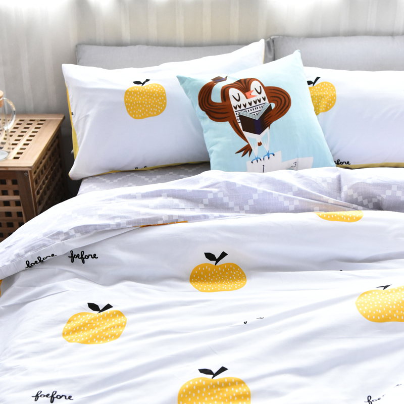 Cotton Apple Bedding Set Pear Home Four Seasons Fruits Duvet Cover Twill  Bed Set Twin Queen-in Bedding Sets from Home & Garden on Aliexpress.com |  Alibaba ...