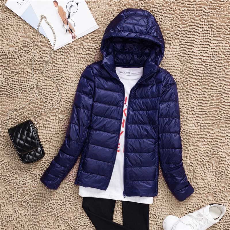 Plus Size S-7XL 90% White Duck Down Jacket Women Winter Women's Overcoat Female Ultra Light Autumn Hooded Down Coat Jackets 2018 5