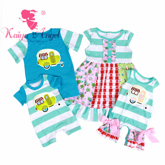 8a750423b557 Kaiya Angel Baby Summer Clothes Apple Green White Striped Fly Sleeve ...