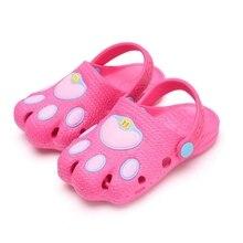 Kid\'s Sandals  1-6T Baby Shoes Cute Garden Shoes Cartoon Girls Boy Sandals Closed-Toe Children Beach Slipper Shoes