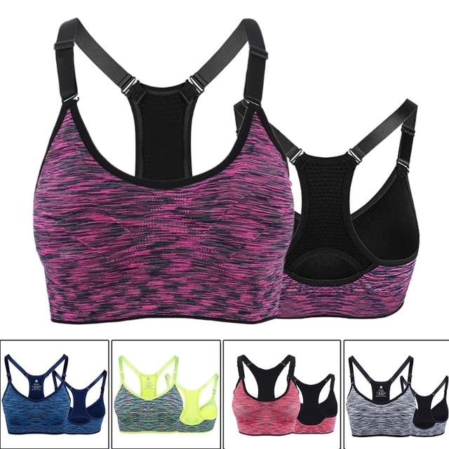 c639e61fde 1 PC Ladies Women Padded Sling Sports Bra Top Vest Gym Fitness Yoga Running  Jogging