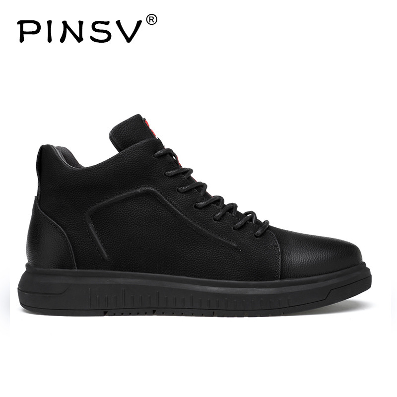 PINSV Spring Mens Shoes Casual Genuine Leather Shoes Male Breathable Slip On Flats Men Big Size Mens Shoes Size 36-47 new fashion women casual shoes women sandals 2016 thick high square heels sandals black flock pumps