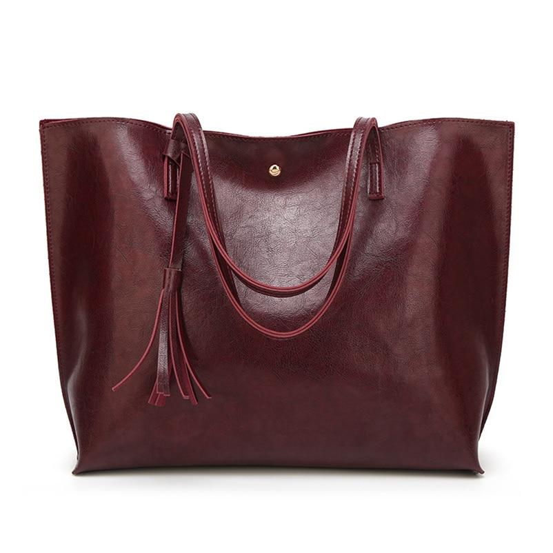 Nevenka Leather Handbag Women Casual Totes Female Shopper Ladies Shopping Bags Large Capacity Bags Vintage Bag for Women 201818