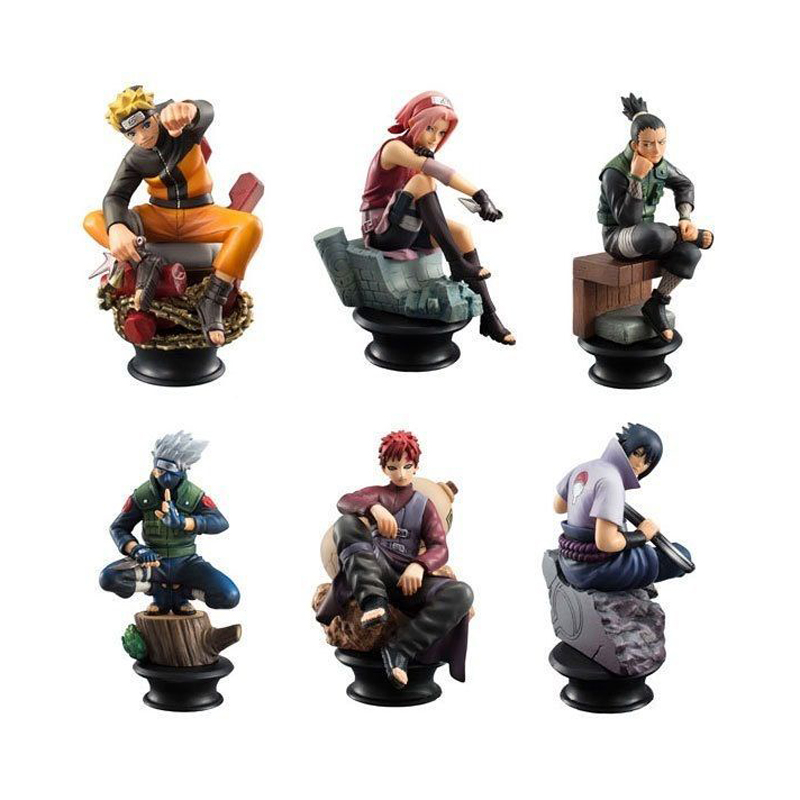 12cm 6pcs/set Japanese Anime Naruto Sasuke Gaara Action Figure PVC Toys Figure Collection Model Desk Decoration Kid Gift anime naruto pvc action figure toys q version naruto figurine full set model collection free shipping