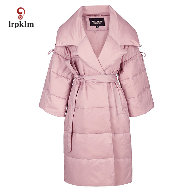 2017 New Fashion High Quality Women Winter Long   Down   Jackets Turndown Collar Female Warm Goose   Down     Coat   Slim Waist PQ089