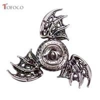 TOFOCO Fidget Spinner Dragon Eyes Metal Colour Hand Spinner Finger Spinner Anti Stress Tri Spiner Toys