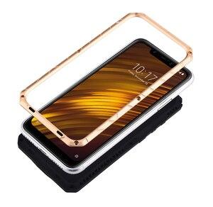 Image 3 - Original IMATCH quotidien étui étanche pour Xiaomi POCOPHONE F1 luxe métal Silicone couverture 360 Protection complète étuis de téléphone