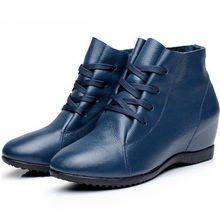 цена на women genuine leather casual shoes height increasing ankle boots flat casual shoes ladies girls brand casual shoes zapatos 36k8