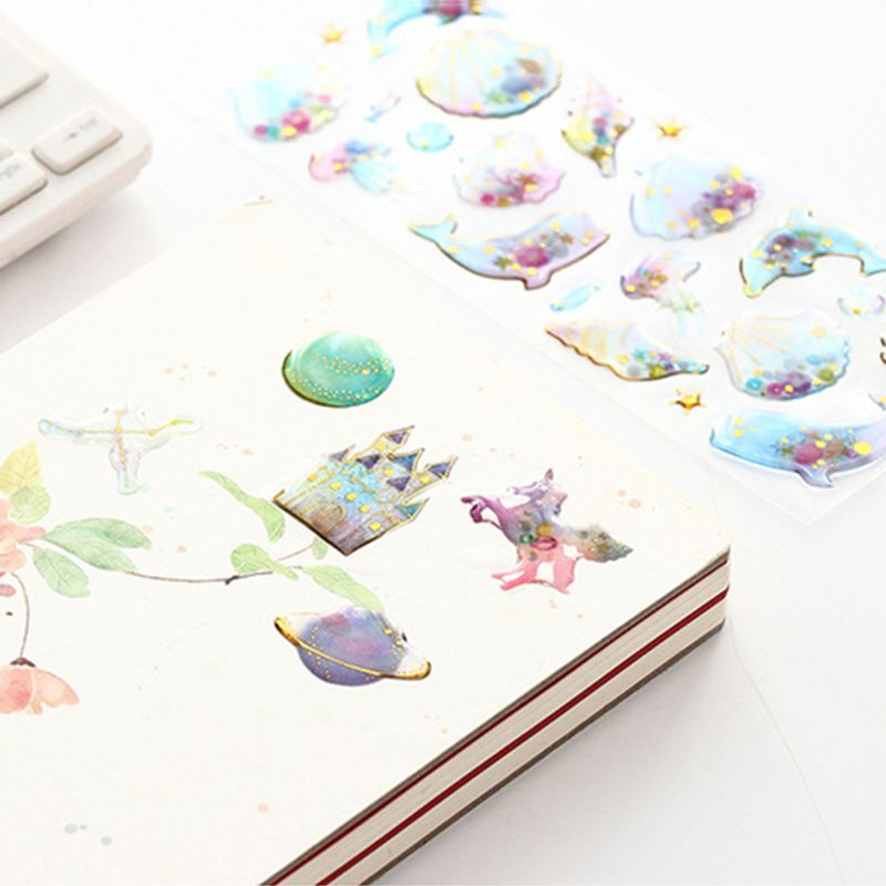 Unicorn Bird 3D Stickers Scrapbooking Diary Stationery Decoration DIY Craft Creative in Stationery Stickers from Office School Supplies