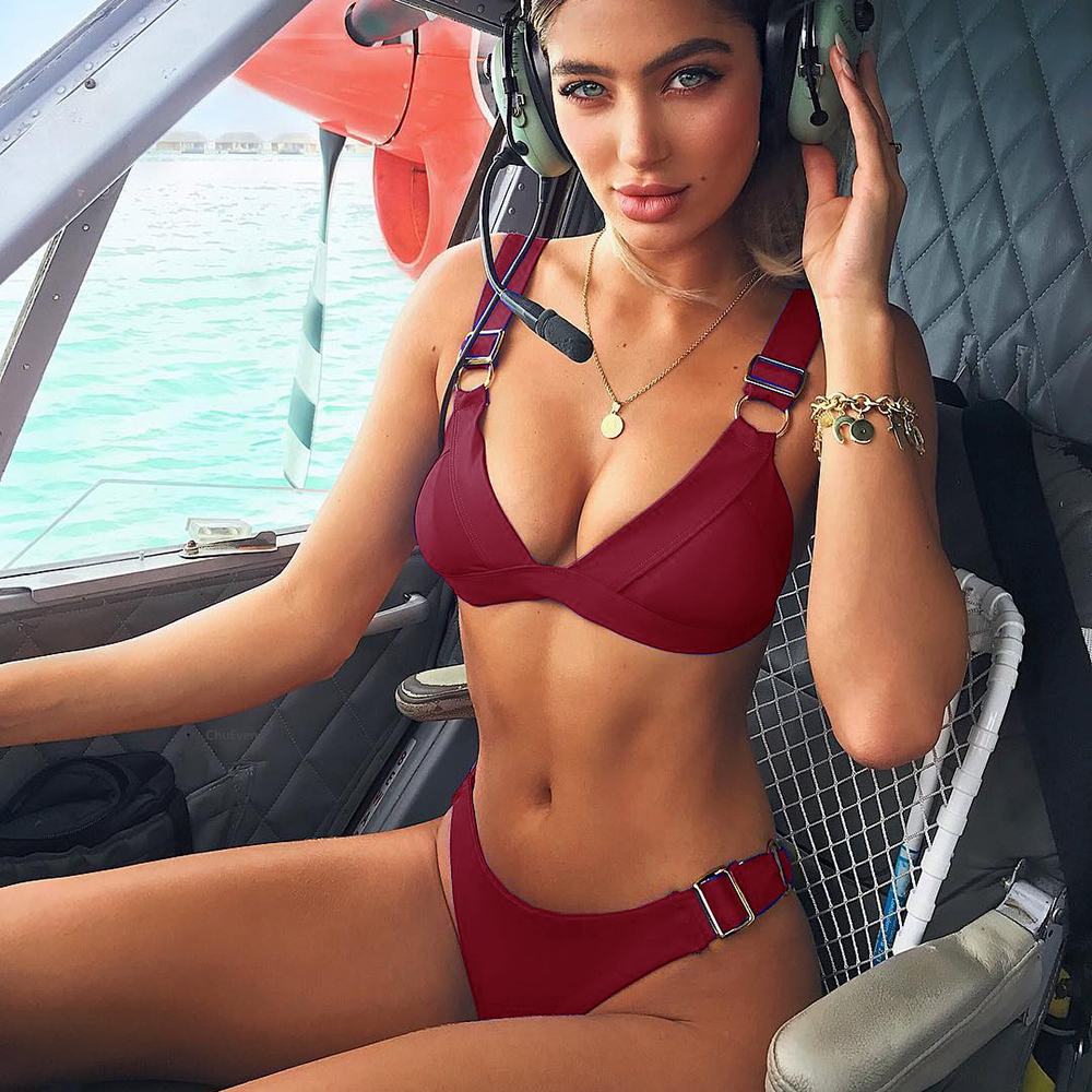 Bikini push up bikini, bikini brasileño, 2019 tendencia ajustar traje de baño mujeres, traje de baño bikini de verano hembra micro bikini
