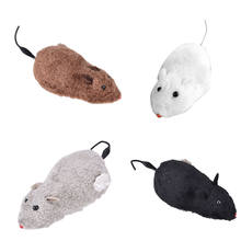 1PCS Cute Playing Toys Wind Up Funny Running Mouse Rat Move Tail Cat Kitten Prank Toy Kids Joking Gag Gift Toys(China)