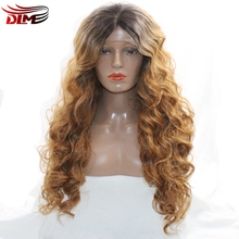 DLME Pre Plucked Loose Wave Hair 150% Density Glueless Lace Front Wig Synthetic Golden Blonde Fully British Wigs For Women