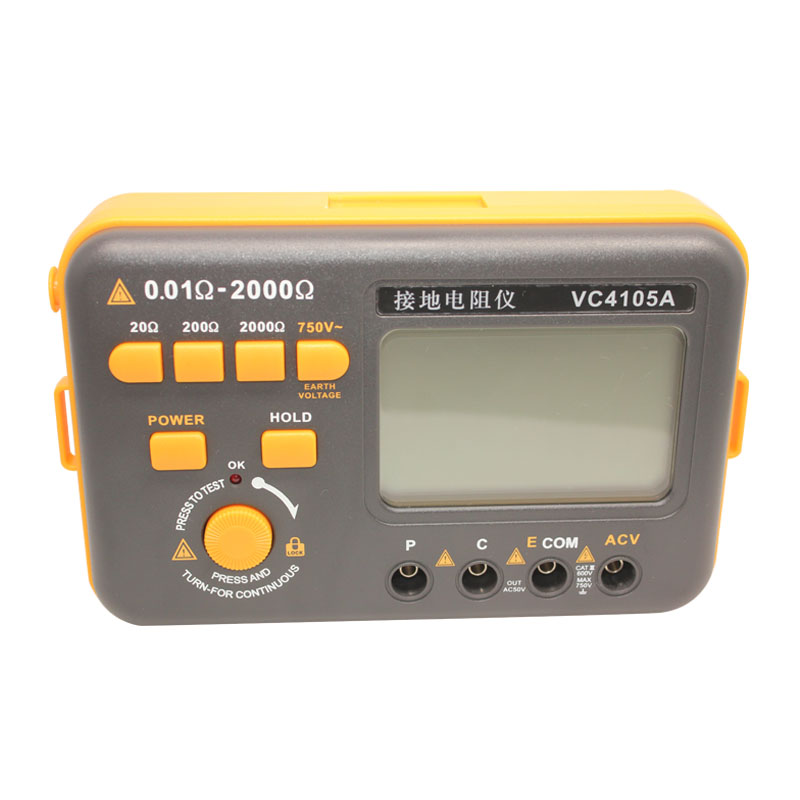 Eone VC4105A Digital earth resistance meter Ground Resistance tester AC voltage measurement victor vc4105b earth resistance ground resistance ac current 750v meter tester digital earth resistance meter