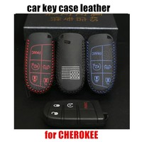 Hot Sale New Car Key Case Hand Sewing Factory Wholesale Leather Car Key Cover Fit For