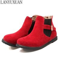 2016 Biggest Size Shoes 30 52 Autumn Winter Style Ankle Women Woman Ankle Boots Botas S