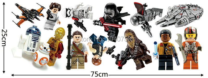 ... Star Wars Wall Stickers Decals Kids Room ...