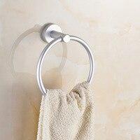 AUSWIND Bathroom Towel Ring Holder Modern Silver Space Aluminum Towel Ring Holder Chrome Wall Mount Bathroom Accessories Ug10