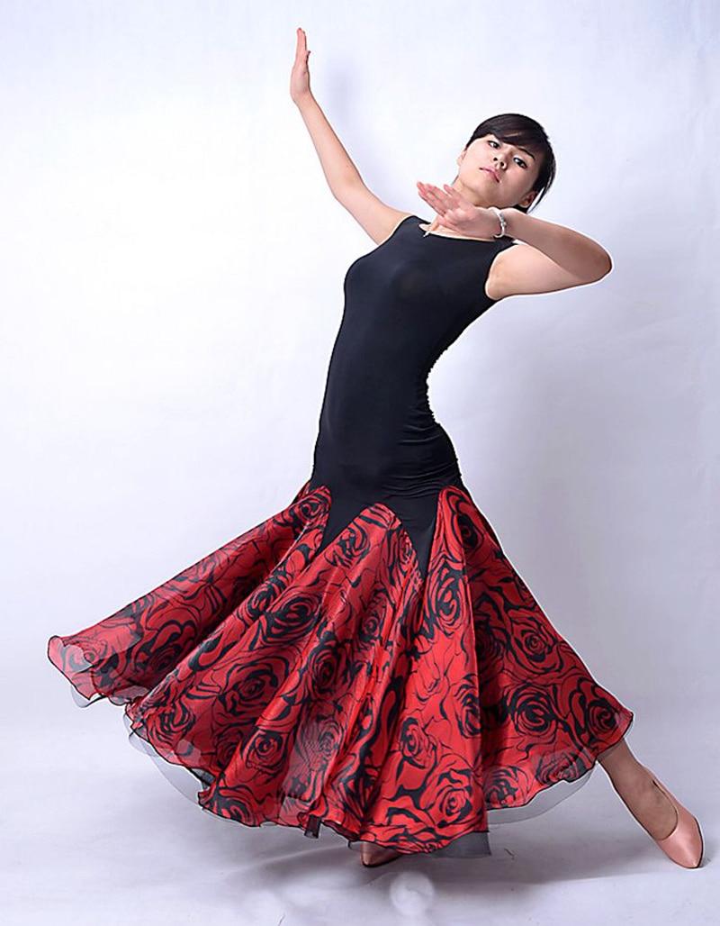 Ballroom Dance Competition Dress Women 2 Color Simple Style Sleeveless Practice Flamenco Ballroom Dancing Dress-in Ballroom from Novelty u0026 Special Use on ...  sc 1 st  AliExpress.com & Ballroom Dance Competition Dress Women 2 Color Simple Style ...