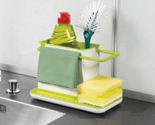 2016 Holder Sponge Kitchen Box Draining Rack Dish Self Draining Sink Storage Rack Kitchen Organizer Stands Utensils Towel Rack