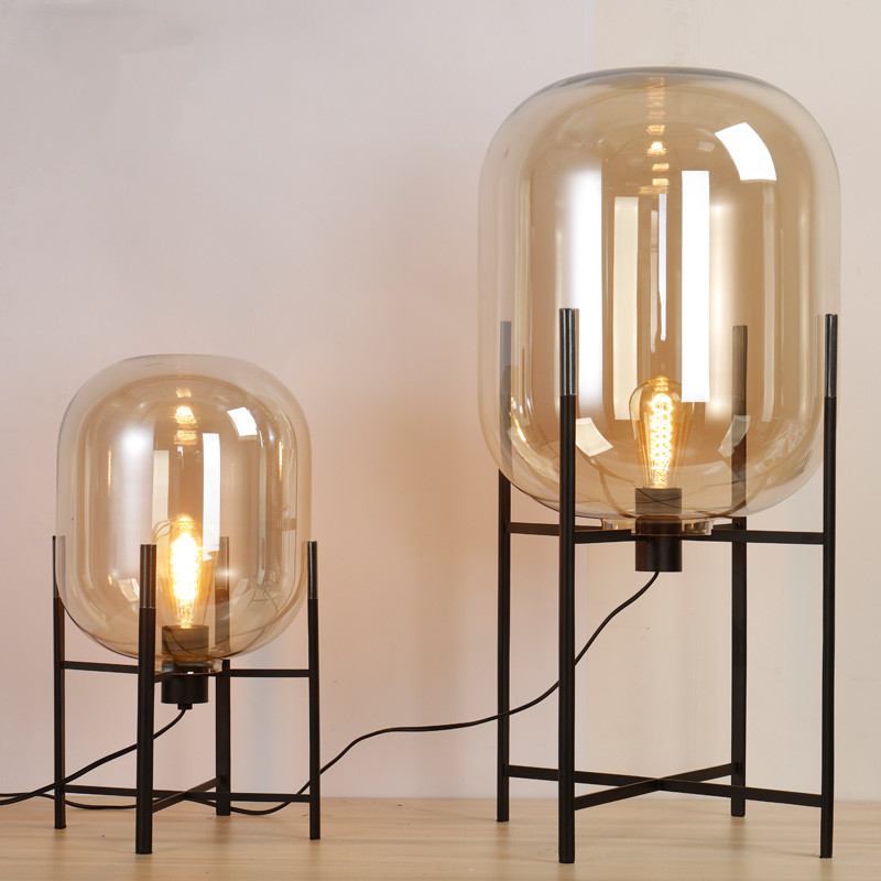 Europe oda pulpo table lamp glass shades metal lamp body desk light europe oda pulpo table lamp glass shades metal lamp body desk light amber gray color shades table deco lamp for bedroom in floor lamps from lights aloadofball Gallery