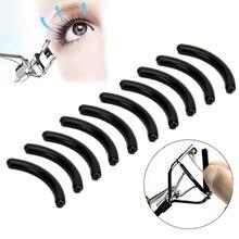 New 10Pcs Black Eyelashes Women Eyelash Curler Replacement Pads Curling pads