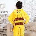 Фотографии Малыш Мальчики Девочки Партия Одежды Pijamas Фланелевые Пижамы Ребенок Пижамы С Капюшоном Пижамы Мультфильм Животных Пикачу Косплей