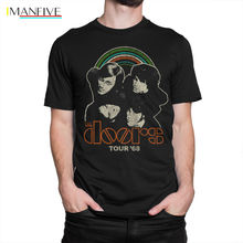 The Doors Tour68 T shirt, Jim Morrison Tee, Mens s All Sizes Summer Short Sleeves Cotton T-Shirt Fashion