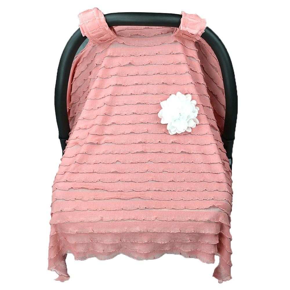 MUQGEW Materity Baby Stroller Sunshade Newborn Car Seat Canopy Pushchair Prams Cover Lace Stroller Accessories Q06