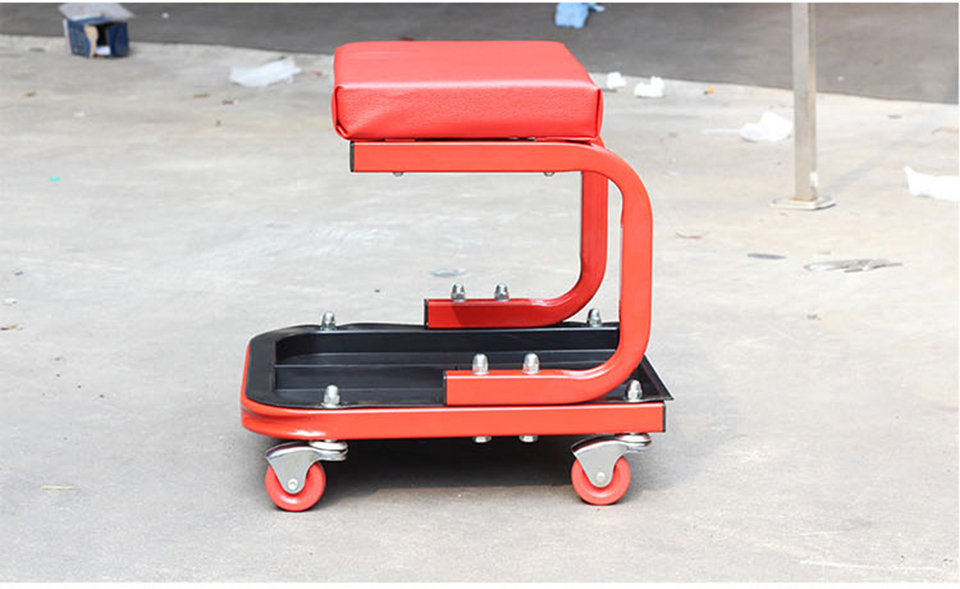 Image 3 - Car Wrap Apllication Garage seat,Red Car Repair Chair With Wheels Shop Sooper Chairs MO 601-in Car Stickers from Automobiles & Motorcycles