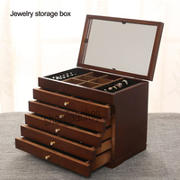 Jewelry Makeup Cabinet Storage Boxes large storage drawers type cassette deck with Cosmetic Mirror Box 1pc