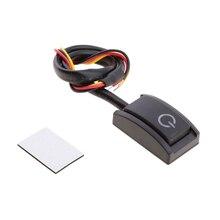 1 Uds. Mini interruptor de encendido y apagado de coche precableado Auto reajuste parte para barra de luz LED/lámpara de chasis/luz de conducción Etc 200mA