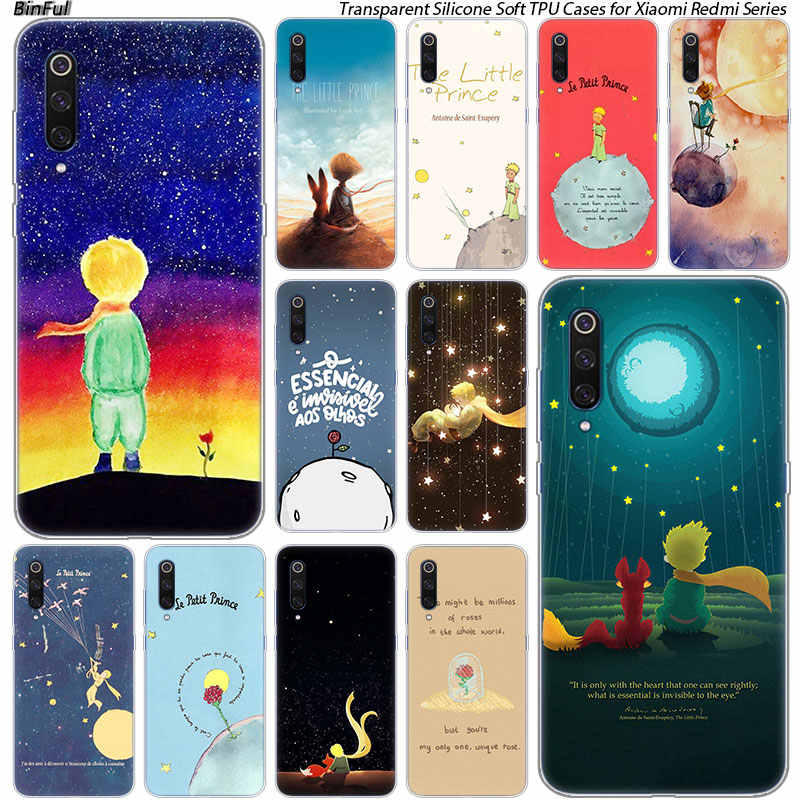 Little Prince ซิลิโคนสำหรับ Xiaomi Pocophone F1 9 T 9 9SE 8 A2 Lite A1 A2 Mix3 Redmi k20 7A หมายเหตุ 4X5 6 7 Pro S2 ฝาครอบ