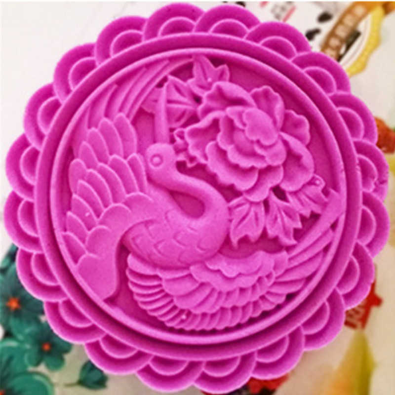 250 г гигантская форма для выпечки китайских пирожных пластиковые выпечки Кондитерские инструменты Круглый 10 см луна торт пресс-форма DIY кухонные принадлежности для выпечки