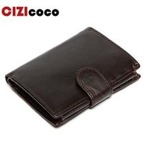 2019New Men Wallet Genuine Leather Portfolio Brand Designers Male Clutch Money Pocket Multifunctional Coin Purse