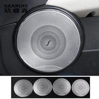 Car Styling Audio Speaker Car Door Loudspeaker Trim Cover Stickers For Mercedes Benz C Class W204