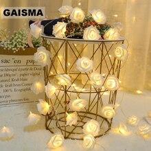 дешево!  5 М 40 Лампы Роза СВЕТОДИОДНЫЕ Огни Строки Рождественские Украшения Гирлянды Цветочная Спальня  Лучший!