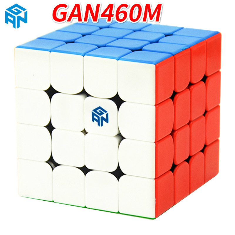 GAN460 M 4*4*4 cubo mágico de velocidad profesional magnético GAN 460 educativo 4x4x4 rompecabezas juguetes para niños aprendizaje Cubo juguetes Juguetes-in Cubos mágicos from Juguetes y pasatiempos    1