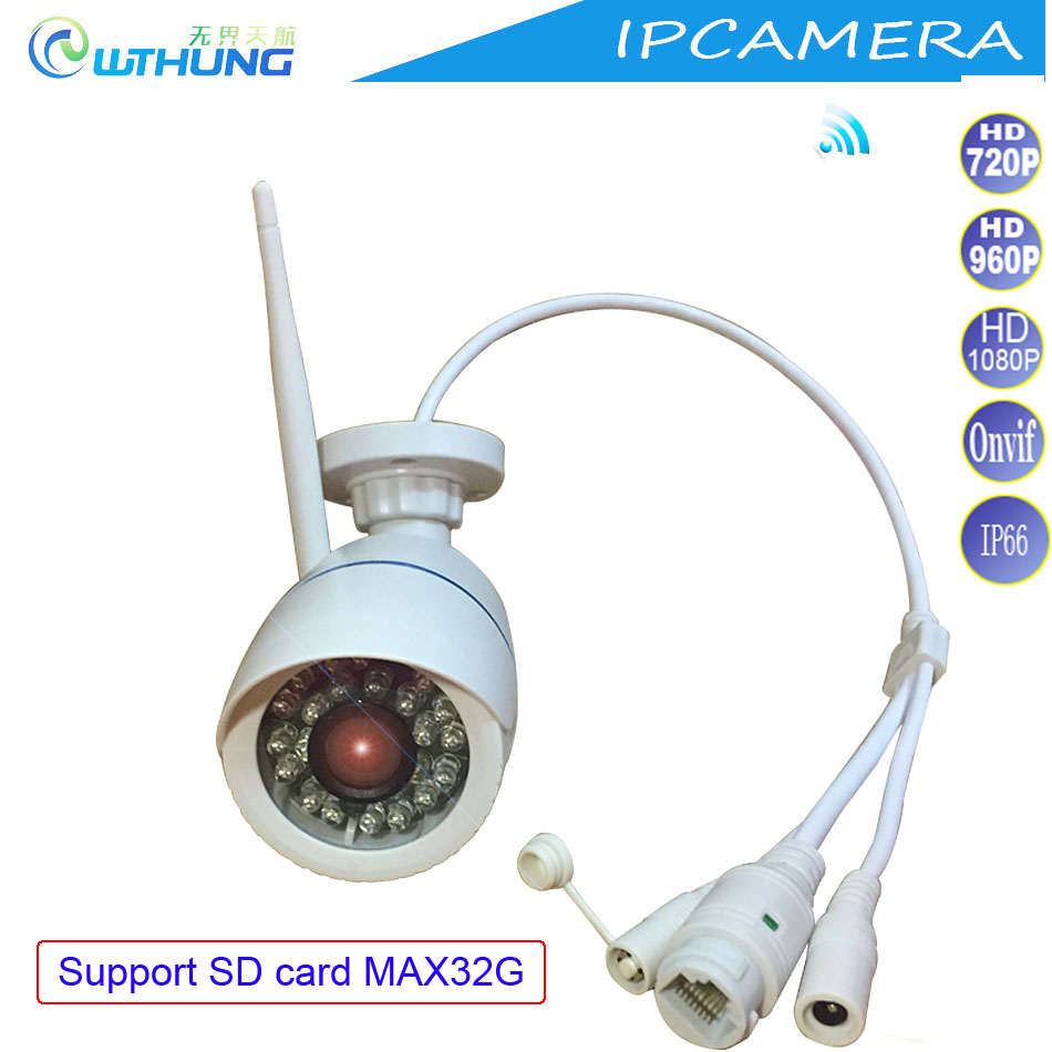 Wifi IP Camera Wireless Wired 720P 960P 1080P CMOS Sensor Support SD Card Motion Detector Onvif P2P For CCTV Security Cam System azishn yoosee wifi onvif ip camera 1080p 960p 720p wireless wired p2p alarm cctv outdoor camera with sd card slot max 128g