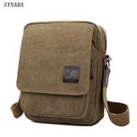 New Men Messenger   Bags   Canvas Men Handbags Spring and Summer Travel   Bags   3 Colors 21*26*8CM Srtip 150CM D7003