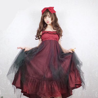 Punk japanese sweet lolita dress sets kawaii girl gothic lolita retro lace victorian dress palace gothic dress loli cos princess