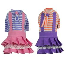 Summer  Striped Costume Puppy Clothing Supplies Cute Pet Lovely Dress Cat Clothes Party Dresses