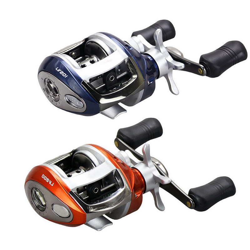 Baitcasting bobine 12 + 1BB 6.3: 1 roulements à billes appât moulage pêche bobine magnétique frein eau goutte roue bobine pêche en mer moulinets