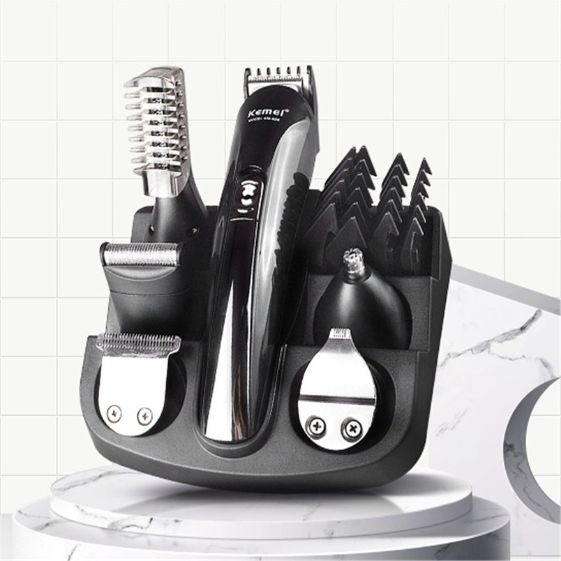 Kemei KM - 600 Professional Hair Trimmer 6 In 1 Hair Clipper Shaver Sets Electric Shaver Beard Trimmer Hair Cutting Machine XJ original kemei professional hair trimmer 6 in 1 hair clipper shaver sets electric shaver beard trimmer hair cutting machine