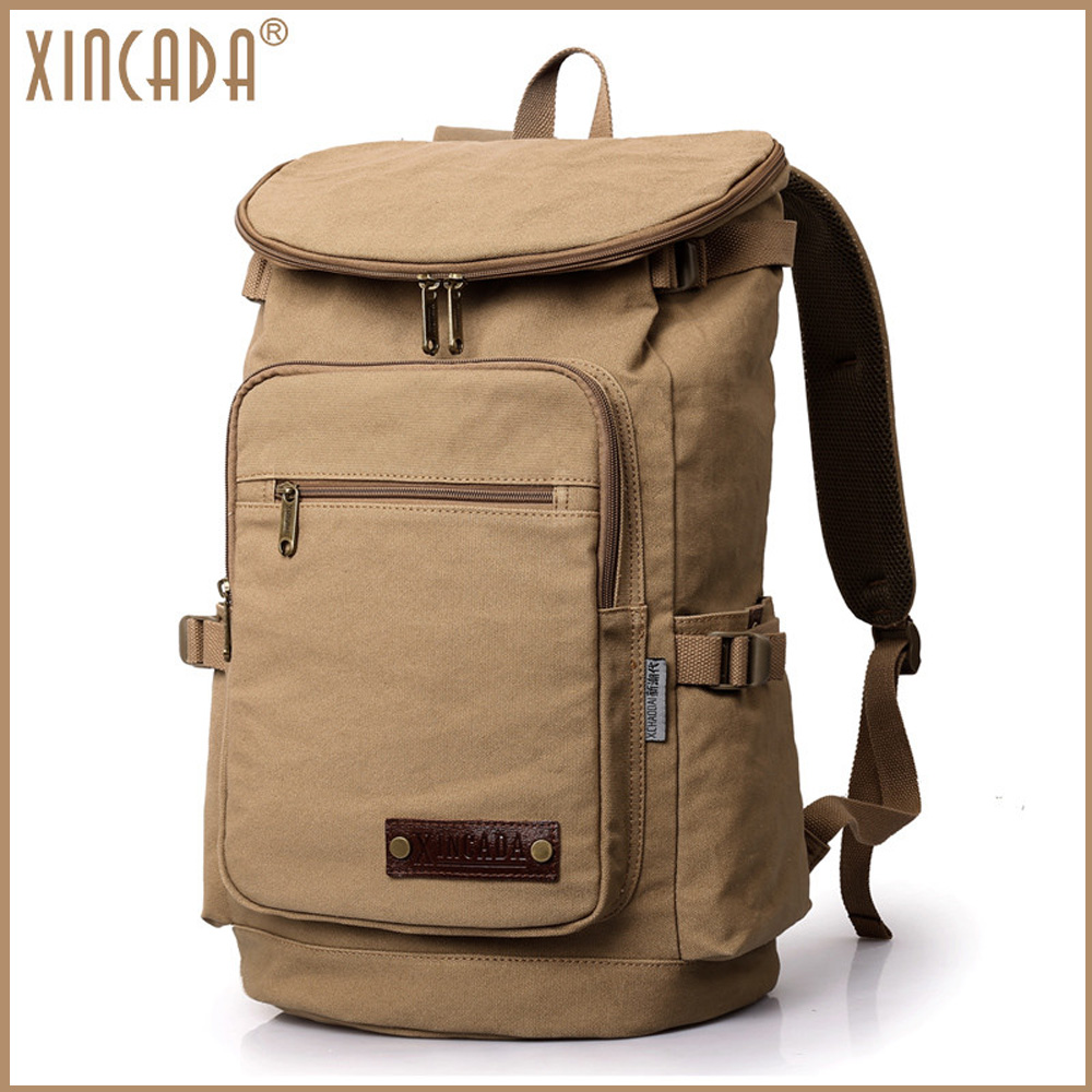 XINCADA camping travel male backpack classic retro trip vintage men bags canvas shoulder back bag for