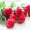 6pcs Floral Rose Silk Artificial Flowers Touch Real Latex Bouquet Bridal Bridesmaid Hydrangeas Flowers Wedding Party Home Decor