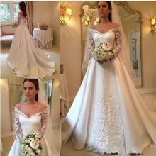 SexeMara Bridal Gowns Chapel Train V-Neck Wedding Dresses